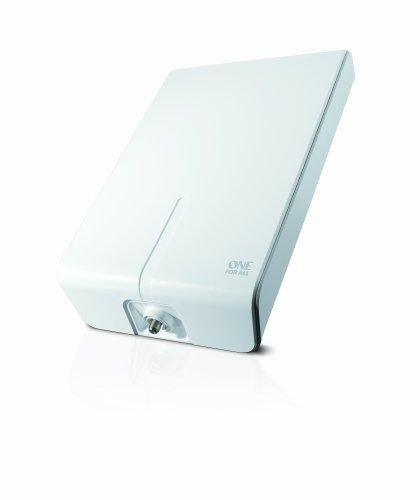 One For All DVB-T/DVB-T2 Outdoor/Außenantenne - 4K 1080P HD/HDTV Fernseher TV Antenne mit Verstärker - 0-50 km Reichweite – 10 meter Koaxialkabel - UHF/VHF - weiß - SV9455