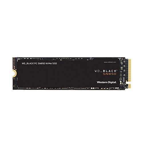 WD_BLACK SN850 de 500GB: SSDinterna con disipador térmico para gaming; tecnología PCIe Gen.4, velocidades de lectura de hasta 7000MB/s, M.2 2280