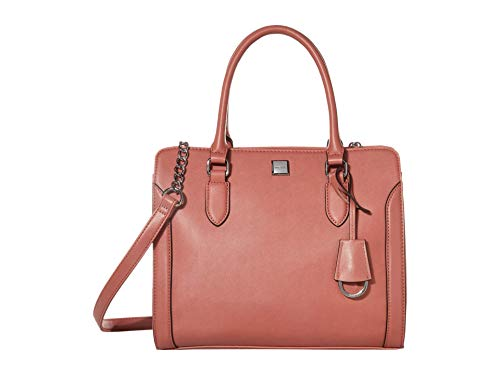 31LGbhR86hL Strut around with the Nine West® Coralia Me Time Satchel faux-leather handbag by your side! Dual carry handles and a removable crossbody strap with chain detail. Exterior boasts brand detail and tag decor.
