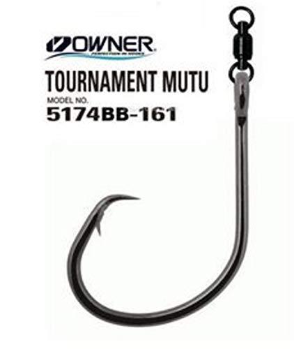 Owner Tournament MUTU 5174BB-171 with Ball Bearing Swivel 7/0. Confezione da 4 ami.