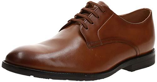 Clarks Ronnie Walk, Zapatos de Cordones Derby, Marrón (Tan Leather Tan Leather), 44 EU
