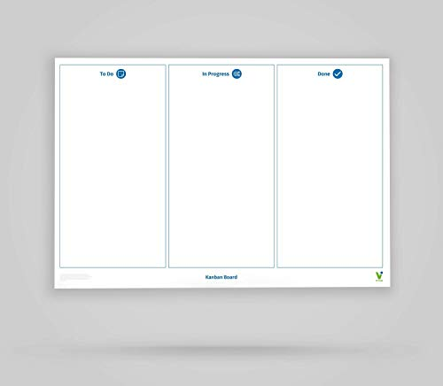 Vi-Board Kanban Board/Whiteboard: rollable, double-sided, reusable mobile whiteboard poster: one...