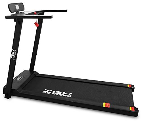Tapis Roulant elettrico Home Fitness, Tappeto da corsa pieghevole (2.5 HP picco) salvaspazio con Bluetooth integrato, Sensore Cardio, Velocit regolabile 14 km/h (Nero)