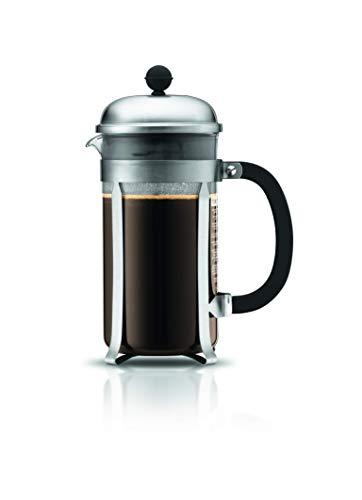 BODUM 1928-57, Matte Chrome Chambord 8-Cup Coffee Maker, 34-Ounce, 34 Oz