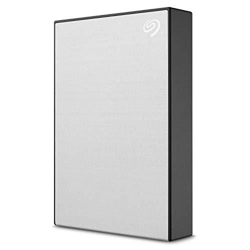 Seagate Backup Plus 4 To, Disque Dur Externe Portable HDD – Argent, USB 3.0, pour PC portable et Mac, Abonnement de 4 mois à Adobe Creative Cloud, et services Rescue valables 2 ans (STHP4000401)