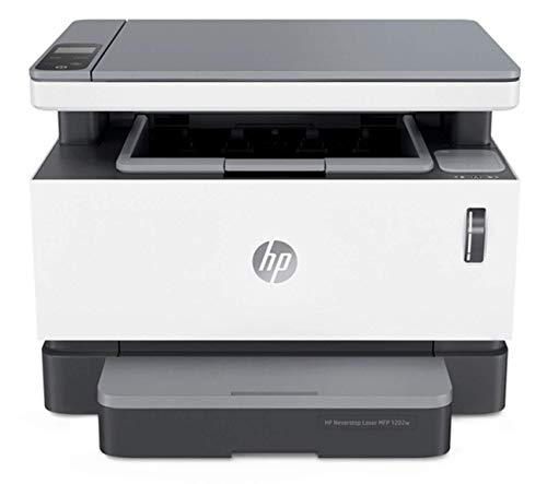 HP Neverstop All-in-One Laser Printer 1202w, Wireless Laser with Cartridge-Free Monochrome Toner Tank, Works with Alexa (5HG92A)