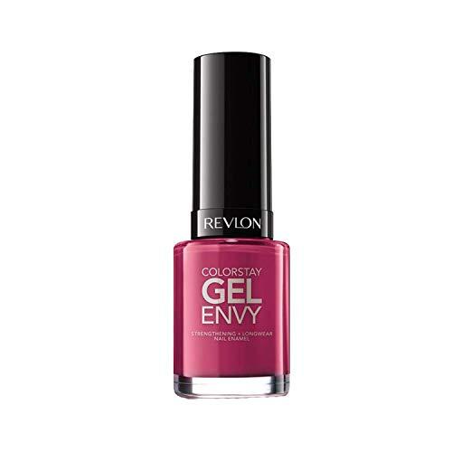 Revlon ColorStay Gel Envy Longwear Nail Polish, with Built-in Base Coat & Glossy Shine Finish, in Plum/Berry, 400 Royal Flush, 0.4 oz