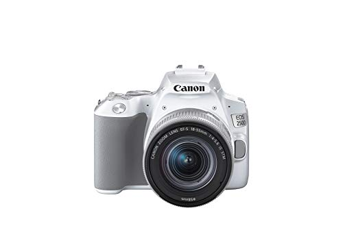 Canon EOS 250D Bianco + EF-S 18-55mm f/4-5.6 IS STM Kit fotocamere SLR 24,1 MP CMOS 6000 x 4000 Pixel Argento