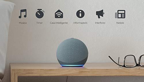 Nuovo Echo Dot (4 generazione) - Altoparlante intelligente con Alexa - Ceruleo