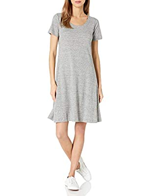 A flattering take on the T-shirt dress, this piece is made with a soft Pima cotton blend, a scoop neck, and a swingy fit Pima cotton is blended with the softest modal for a flattering drape with substantial coverage Start every outfit with Daily Ritu...