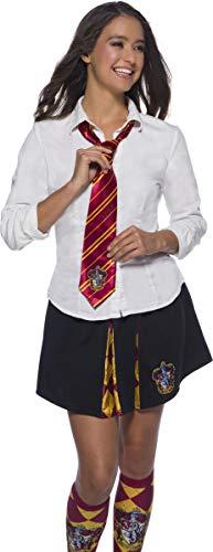 Rubies Corbata oficial de Harry Potter Gryffindor, accesorio de disfraz para adultos o niños, talla única de 6 años