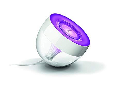 Philips Hue LivingColors LED Tischleuchte Iris, dimmbar, bis zu 16 Millionen Farben,kompatibel mit Amazon Alexa (Echo, Echo Dot)