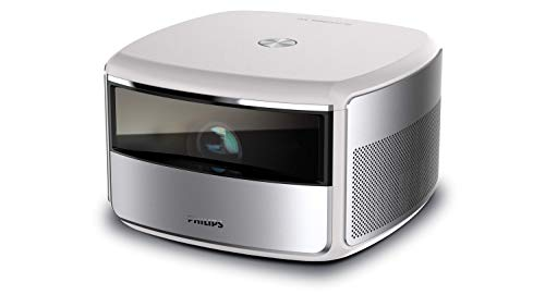 """Philips Screeneo S6 (SCN650) All-in-one 4K HDR, Short Throw, up to 180"""" Display, Home Theater Projector TV up to 2,000 Color Lumens, Android OS, Apps, Electric Keystone, Auto Focus, Digital Zoom"""
