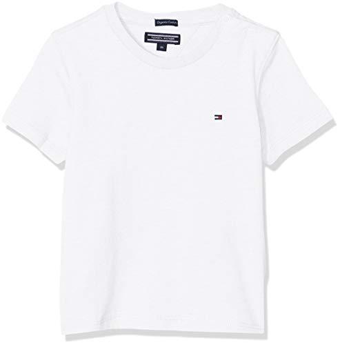 Tommy Hilfiger Boys Basic CN Knit S/s Maglietta, Bianco (Bright White 123), 164 (Taglia Produttore: 14) Bambino
