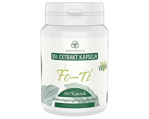 Fo-Ti (He Shou Wu) • 4 Monate Vorrat • Hochdosiert: 10:1 Extrakt • ohne Zusätze • Extrakt aus der Wurzel • 120 Extrakt Kapseln je 300 mg