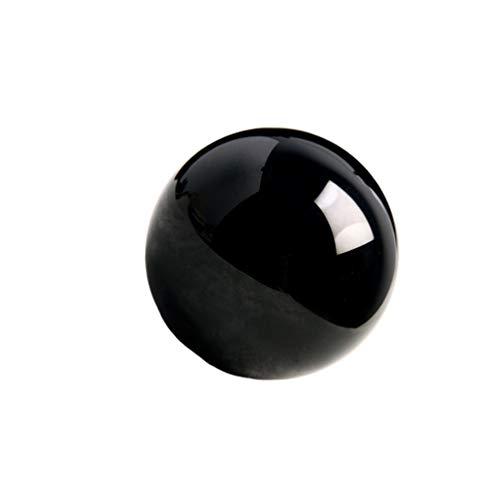 VOSAREA Bola de Cristal de obsidiana Decorativa mágica Mineral Natural adivinación Esfera Bola decoración de Adornos de Escritorio para el hogar (3 5 cm)