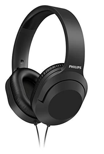 Philips H2005BK/00 Auriculares Estéreo con Cable 2 m, Auriculares Supraaurales (Altavoces 40 mm, Aislamiento del Ruido Pasivo, Banda de Sujeción Ajustable y Ligera) Negro - Modelo 2020/2021
