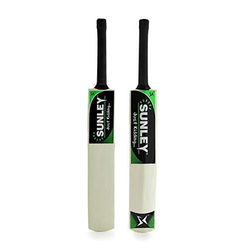 Sunley Just Kidding Popular Willow Cricket Bat for Kids (Size 3 for Age Group 8 Years Kids)