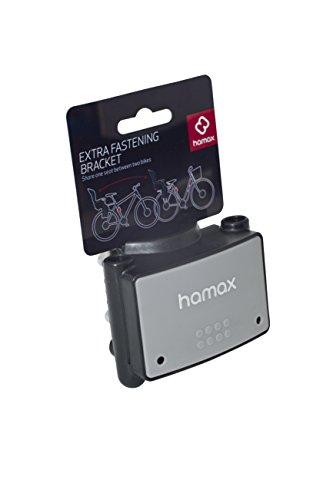 HAMAX HAM604001 - Elemento di Fissaggio aggiuntivo per seggiolini da Bicicletta, Colore: Nero/Grigio