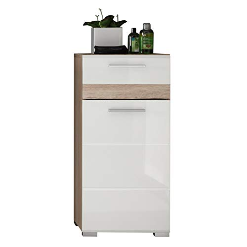 trendteam smart living Mobili, Legno, Bianco, 37 x 80 x 31 cm