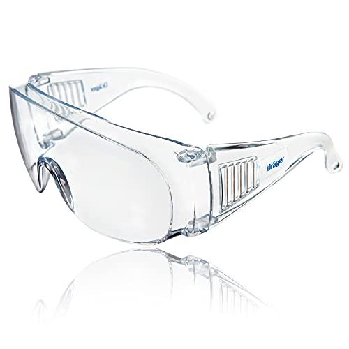 Drger occhiali prottettivi X-pect 8110   Sovra occhiali anche per portatori di occhiali   Protezione antipolvere, antiappannamento, antigraffio e anti-spruzzo   Leggeri, comodi e trasparenti   1 pz.