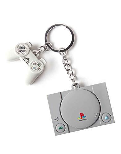 Difuzed PlayStation - Llavero de goma 3D para consola y controlador