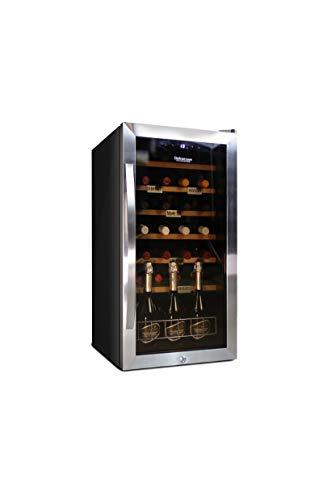 Cantinetta Vino Datron, Adatta a 28 Bottiglie, Cantinetta Vino Frigo Refrigerata, in Acciaio Inox