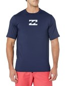 Billabong Men's Classic Loose Fit Long Sleeve Rashguard Surf Tee Shirt, Navy, M