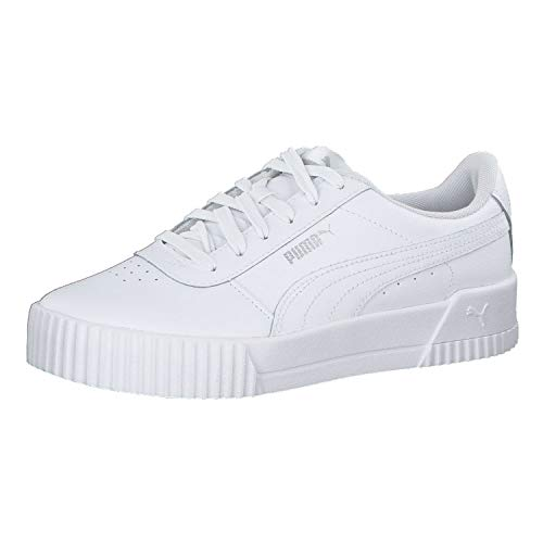 PUMA Carina L, Zapatillas Mujer, Blanco White/White/Silver, 38 EU