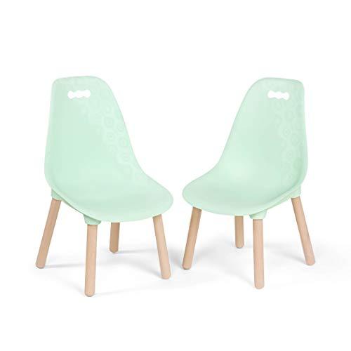 B. toys by Battat B. spaces by Battat – Kid Century Modern: Chair Set – Stabile Kinderstühle in Mintgrün (2 Stühle), Kunststoff, mint, Kindergröße