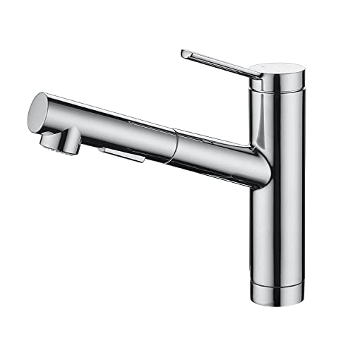 CREA キッチン蛇口 引出しホース式水栓 キッチン用水栓 シングルレバーワンホールキッチン水栓
