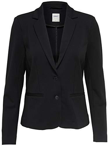 ONLY NOS Damen Anzugjacke Onlpoptrash Blazer Noos, Grau (Black), 40 (Herstellergröße: L)
