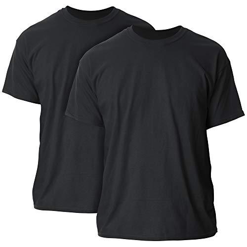 Gildan Men's Heavy Cotton T-Shirt, Style G5000, 2-Pack, Black, X-Large