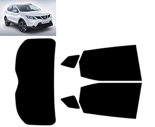 Tintcom.com Pellicola Oscurante Vetri Auto Pre-Tagliata per-Nissan Qashqai 5-Porte 2013-. Vetri Posteriori & Lunotto (20% Fumo Scuro)