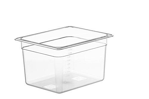 LIPAVI C10 - Contenitore Sous Vide 12 Litri, Policarbonato resistente e trasparente, 32.3 x 17.7 x 20cm