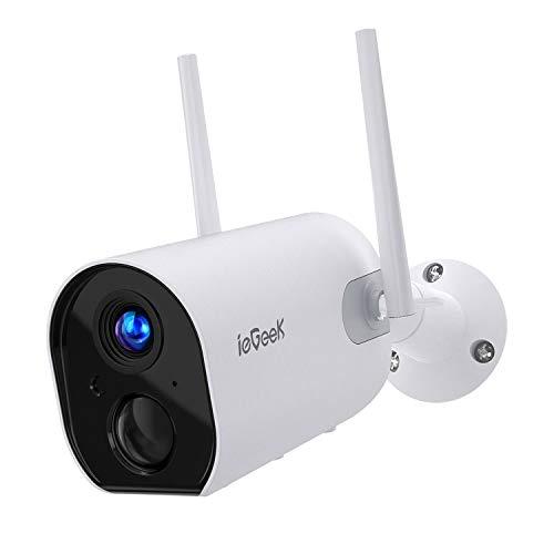 ieGeek Camara de Vigilancia WiFi Exterior con Batería Recargable...