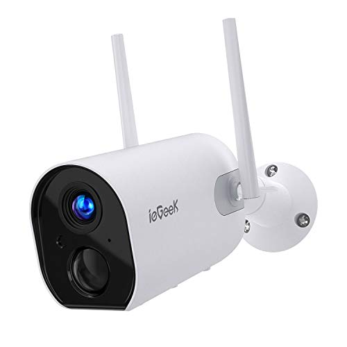 Telecamera Sorveglianza 10400mAh ieGeek Telecamera Wifi IP Esterno Senza Fili con 1080p FHD, PIR Rilevazione, Audio Bidirezionale, Visione Notturna, Compatibile con SD/Cloud