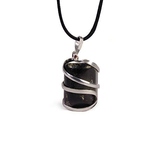 Raw Black Tourmaline Crystal Healing Pendant Necklace...