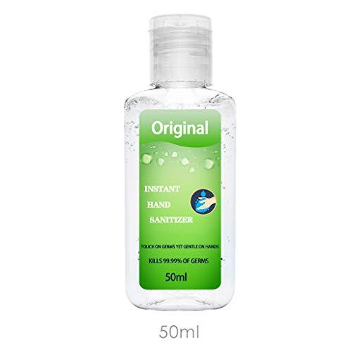 Kitt Advanced Hand Sanitizer Refreshing Gel, Washless Hand Sanitizer Gel, 50ML Portable Hand Soap Gel to Instant Skin Cleansing, Non-irritating (Green)
