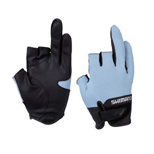 シマノ(SHIMANO) フィッシング グローブ 3D アドバンスグローブ3 GL-021S アイスブルー XL 3本切