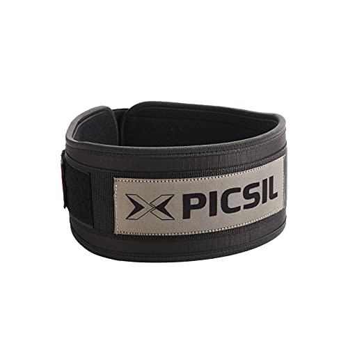 PicSil Cinturón Lumbar para Levantamiento de Pesas, Soporte Lumbar,...