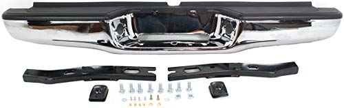 Step Bumper Assembly Compatible with 1995-2004 Toyota Tacoma Chrome Steel Fleetside All Cab Types with Mounting Bracket