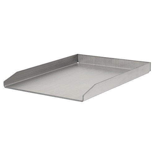 BBQ-Toro Plancha en acier inoxydable, rectangulaire, 30 x 40 cm, universelle et massive - Plaque de cuisson pour barbecue au gaz, au charbon et plus