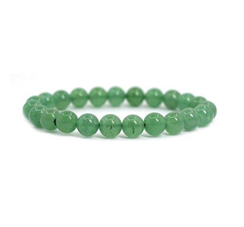 Natural Green Aventurine Gemstone Beaded Bracelet 7 inch...