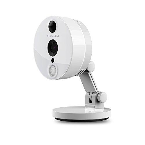Foscam C2, Telecamera IP per la Videosorveglianza, HD 1080P WiFi con App iOS o Android, Ampio Angolo di Visione da 120°, Visione Notturna fino a 8 metri, Rilevatore di Movimento PIR e molto di più, Bianco