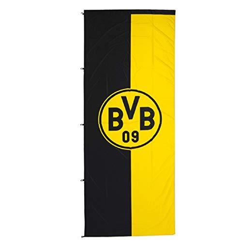 Borussia Dortmund, BVB-Hissfahne im Hochformat, Schwarz/gelb, 100x200cm