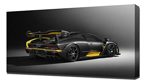 Lilarama 2019 McLaren Senna Carbon Theme by MSO V2 - Canvas Art Print - Wall Art - Canvas Wrap