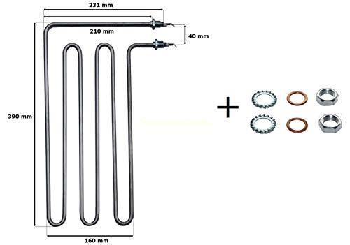 Rohrheizkörper I Heizstab für Weka Saunaofen 2,5 kW=2 500 W Classic SHG, Bio Aktiv Compakt