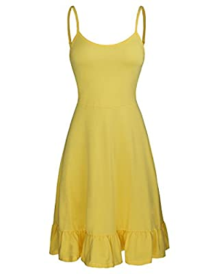 Made from 95% cotton. Leaves your skin feeling soft and comfortable in your summer time. Strecthy material for more easy to dress up or dress down The cute ruffle detail on the bottom of this causal dress that can show the particularity when pair wit...