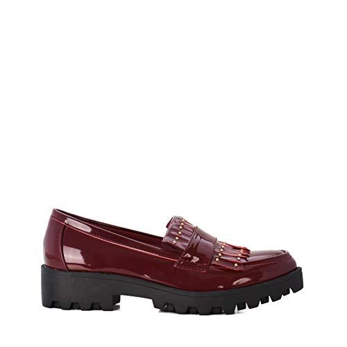 Altamoda Zapatos Planos Mocasín Mujer Estilo Blucher (41)